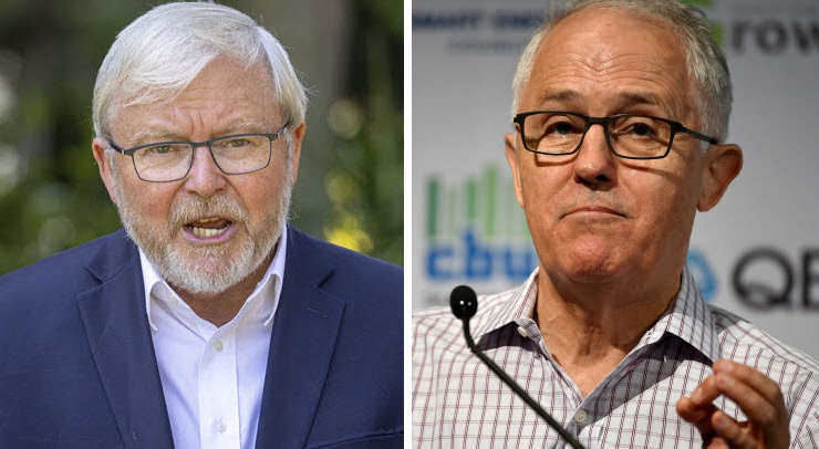 News Corp has been rattled and scared by Rudd and Turnbull